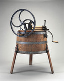 Hand-operated wooden washing machine, 1890.