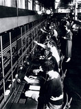 Switchboard operators at the London Trunk Exchange, c 1930s.
