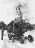 Army demonstration of radar equipment, Hyde Park, London, 17 August 1945.