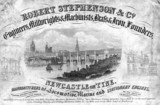 Trade Card of Robert Stephenson & Company, English engineer, c 1800s.