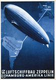 Cover of a Zeppelin brochure, early 20th century.