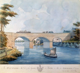 The Bridgewater Canal Aqueduct at Barton, near Manchester, 1793.