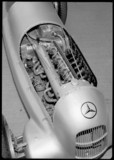 Engine of a Mercedes-Benz W25 GP racing car, 1930s.