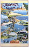 'England's Garden Isle', Isle of Wight Railways poster, c 1910.
