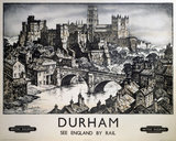 'Durham', BR poster, after 1948.