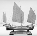 "Rigged model of a Chinese Junk (""Lorcha"")"