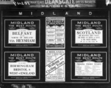 Posters advertising Midland Railway service