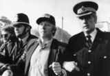 Arthur Scargill being arrested for obstruction, 31 May 1984.
