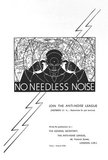 'No Needless Noise', 1935.