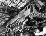 'Britannia' steam locomotive under construc