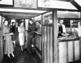 Bar scene in the Bulleid Tavern car, c 1930s.