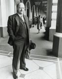 Sir Richard Beeching outside Charing Cross Hotel, London, 27 March 1963.