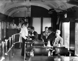 Stanier buffet car interior, c 1930.