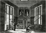 Using a telescope in the Octagon Room at the Royal Observatory, 1680.