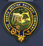 Coat of arms of the North British Railway Company, 20th century.
