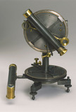Three and a half  inch travellers transit theodolite, c 1840.