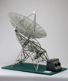 Model of radio dish from one mile telescope at Cambridge, 1964.