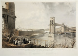 Britannia Tubular Bridge during its construction, 3 December 1849.