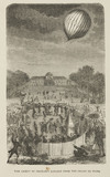 'The Ascent of Charles' Balloon from the Champ de Mars', 27 August 1873.