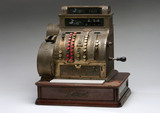 Mechanical cash register, c 1910.