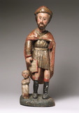 Statue of Saint Roch, Spanish, 17th century?