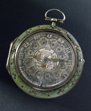 Verge watch in silver inner case, by Jas Shearwood. London, c 1759.