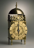 Lantern clock with verge escapement.