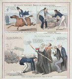 Satirical images of contemporary politicians, c 1830s.