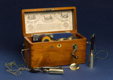 Improved patent magneto-electric machine for nervous diseases, 1862.