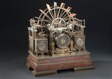 Clock symbolising motive power, French, 19th century.