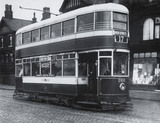 Manchester, Middleton, Rochdale double deck electric tram.