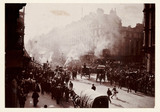 A fire in Oxford Street, London, 1897.
