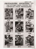 Photographic Advertising Limited contact sheet, c 1950.