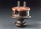 Two pin electrical mains plug, 1901-1910.