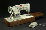 Lock stitch electric sewing machine by Singer, model 319K, c 1953