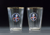 Pair of small glass tumblers, 1951.
