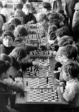 Children playing chess at Paddington School, Liverpool, 5 April 1972.