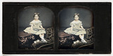Stereo-daguerreotype of a young girl, c 1855.