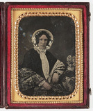 Woman in a bonnet, c 1850.
