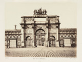 'Arc du Carrousel', Paris, c 1865.