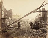 Construction of the Metropolitan District Railway, London, c 1868.