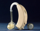Battery driven hearing aid, 1950-1970.