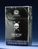 Packet of 20 Death cigarettes, 1999.