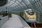 Eurostar train at Waterloo International station.