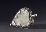 Amuletic heart-shaped pendant, 19th century.