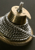 Small screw-cutting device for clock-maker's use, c 1800.