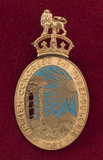 Lapel badge issued by the British Congress on Tuberculosis, 1901.