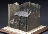 Model of a slum court off Preston Street, Liverpool, c 1910