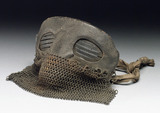 Protective mask with leather and chain mail, 1917-1918.