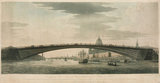 Perspective view of a design by Telford for a cast iron bridge, 1801.